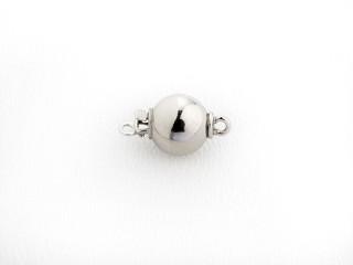 Lås med indstik rund 8 mm blank sølv