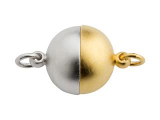 Magnet lås rund 10 mm mat sølv bicolour