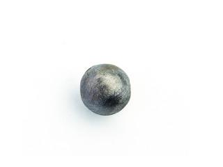On Wire lås rund 11 mm ridset sort rhodineret sølv