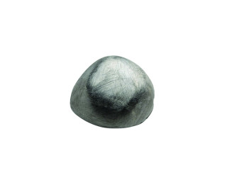 On Wire asymmetrisk 16 x 18 mm ridset sort rhodineret sølv