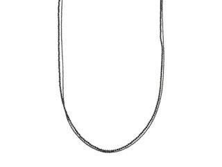 Halskæde 95cm med blank og facetteret onyx, karabinlås
