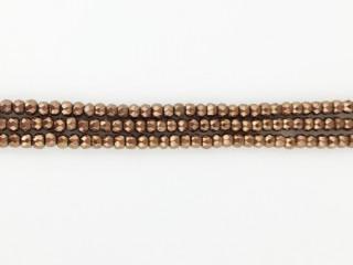 Facetteret 3-4 mm kobber hæmatit kæde 95 cm