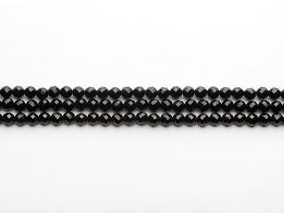 Facetteret 8 mm onyx kæde