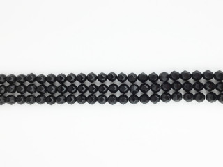 Facetteret star cut 8 mm Onyx kæde