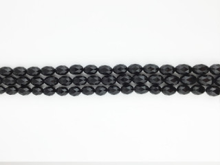 Facetteret 10x14 mm Onyx kæde