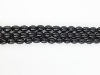 Facetteret 10x8 mm Onyx kæde