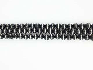 Blank 10 mm Onyx kæde m. simili