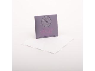 Pudseklud til smykker - microfiber  6,5 x 6,5 mm
